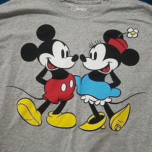NWOT Mickey and Minnie oversized crop top